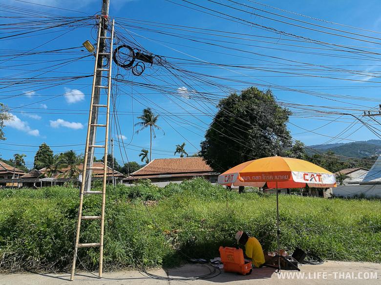 Тайцы чинят интернет