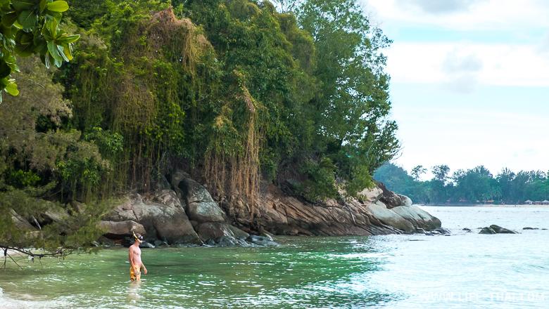 Остров Мамутик, Игорь идёт сноркелить, Малайзия