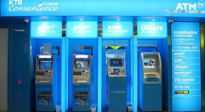 Банкоматы в аэропорту Суварнапуми, Таиланд