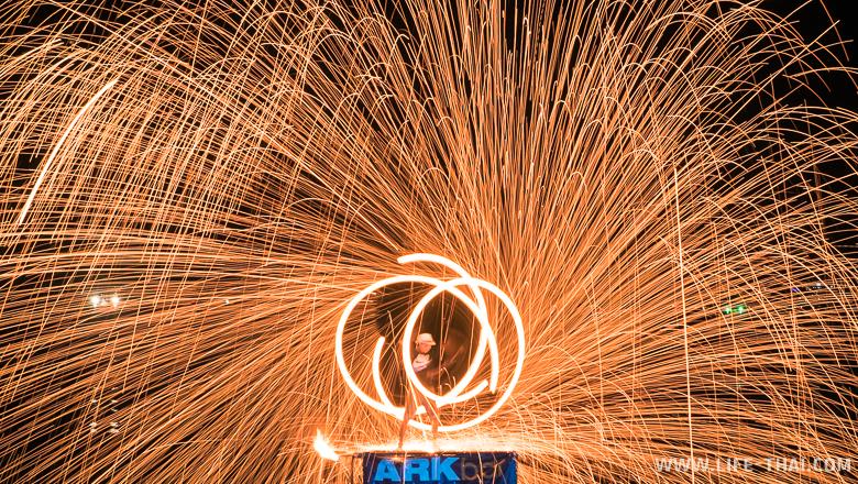 Ночное фаершоу на Самуи, Таиланд