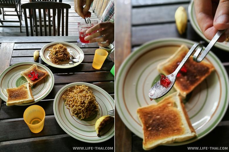 "Завтрак в отеле ""Sepilok B&B"", Сандакан, Малайзия"