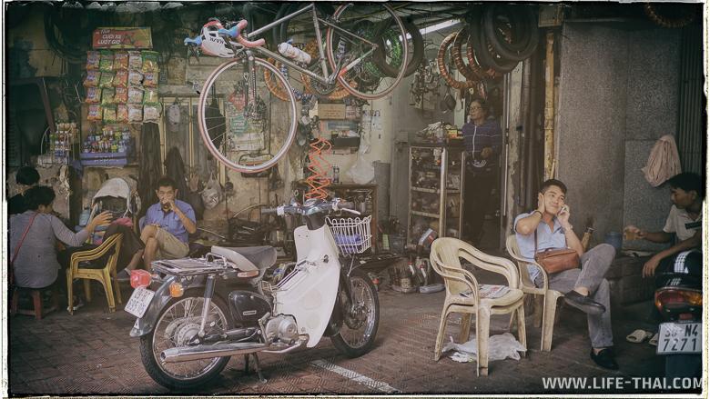 Вьетнамцы не сидят дома, всегда на улице