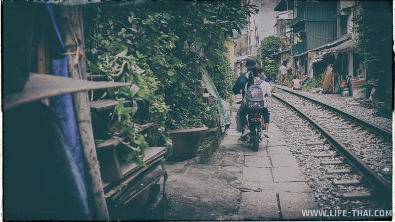 Трущобы в центре Ханоя, Вьетнам