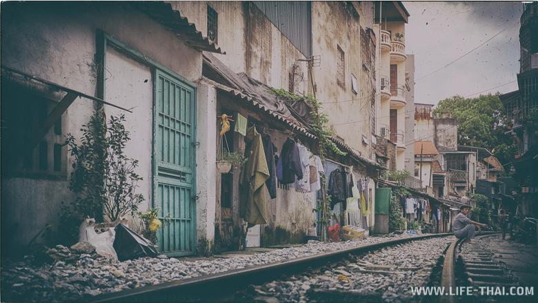 Ханойские трущобы на железной дороге, Вьетнам
