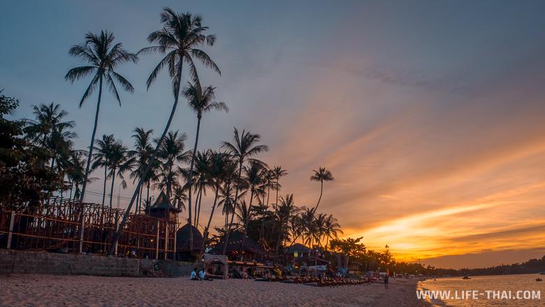 Пляж Бопхут на фото, остров Самуи