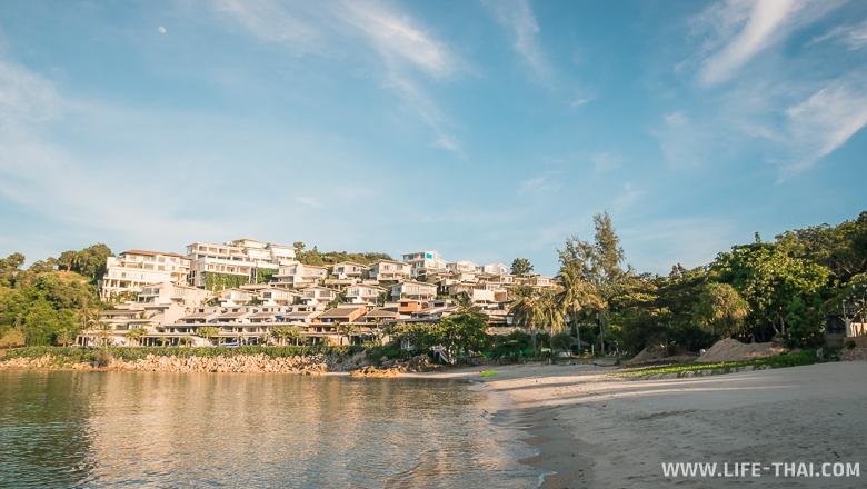 Виллы с видом на закат и бухту Самронг