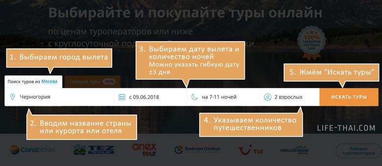 Пошаговая инструкция, как купить тур в Черногорию (тур в Будву, Петровац, Бечичи, Бар, Тиват)