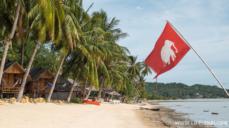 Пляж на острове Панган, Тайландм
