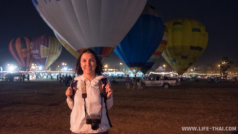 Я на фестивале воздушных шаров в Чиангмае