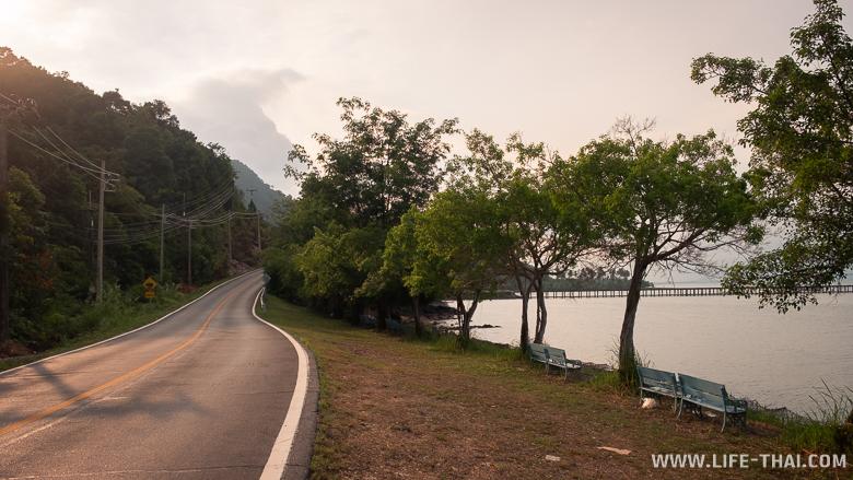 Дороги на ко Чанге. Восточная часть острова