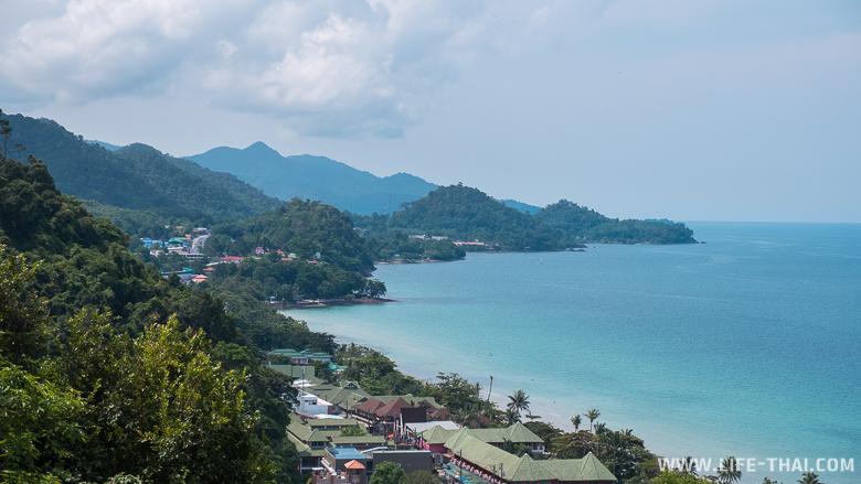 Вид на остров Чанг со смотровой площадки