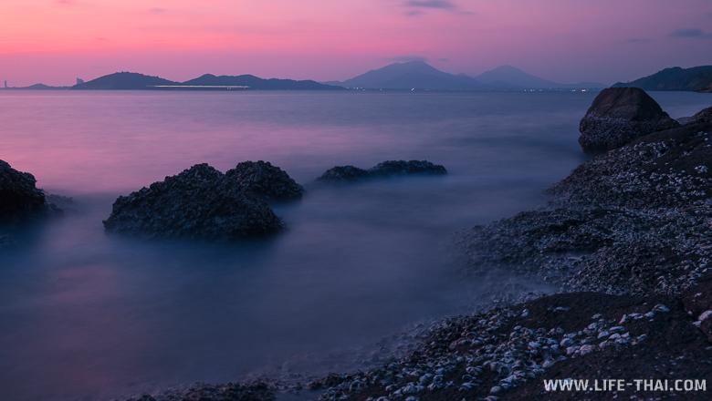 Закат на острове Самед. Вид на Паттайюм