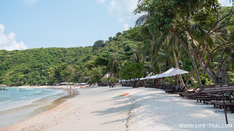Пляж отеля Le Vimarn Cottages & Spa на ко Самете