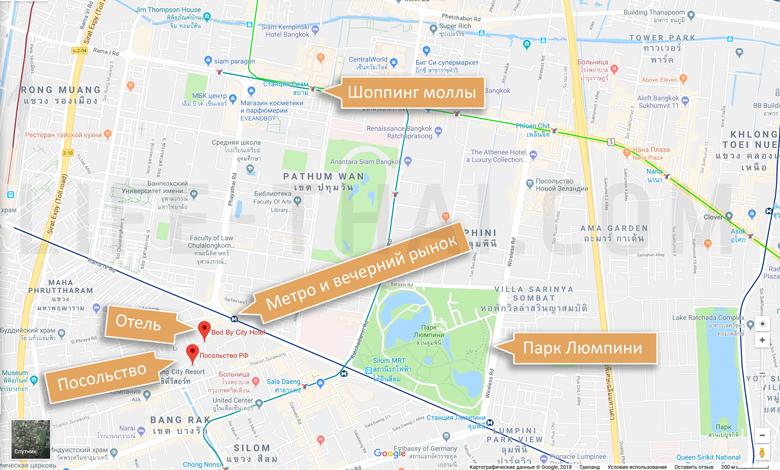 Отзыв о недорогом удобно расположенном отеле в Бангкоке