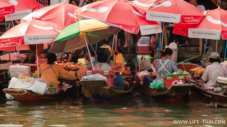 Рынок на реке в Ампхаве