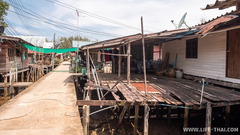 Рыбацкая деревнвя на ко Чанге - достопримечательности острова