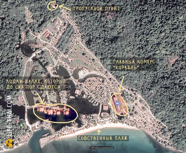 Карта заброшенного отеля на ко Чанге