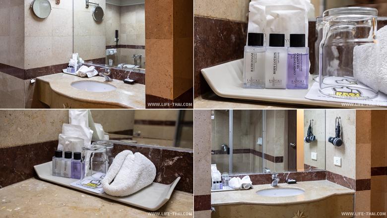 Ванная комната в отеле Байок Скай в Бангкоке