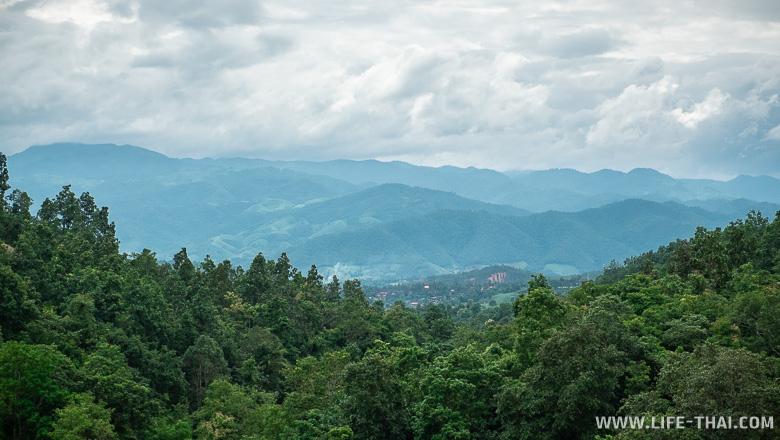 Виды на горы с рисовых террас