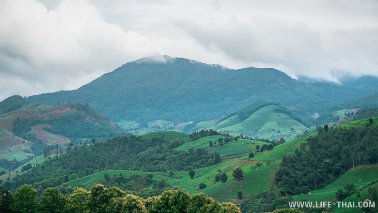 Распаханные склоны гор