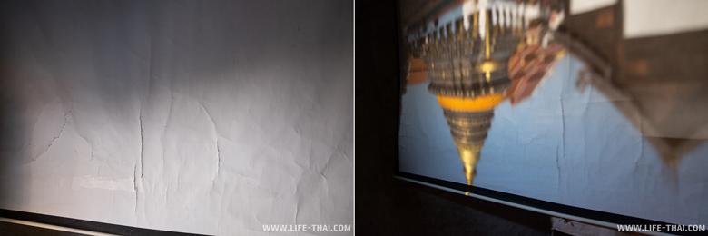 Эффект камеры обскура в храме Лампанга