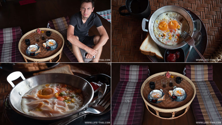 Завтрак в недорогом гесте в Чианг Дао