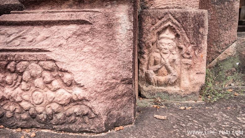 Резьба по камню в прасате, Сурин, Таиланд