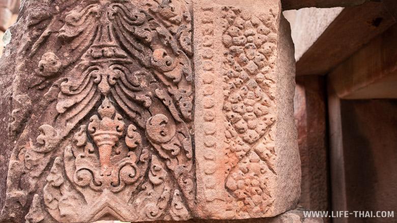 Ажурная Резьба по камню в прасате, Сурин, Таиланд