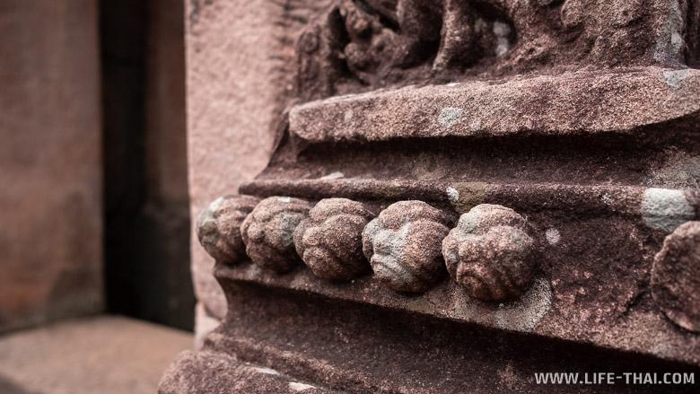 Украшения на стене прасата Та Моан Том, Сурин, Таиланд