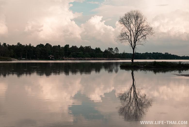Озеро Huay Tueng Thao - место для отдыха и рыбалки в Чиангмае