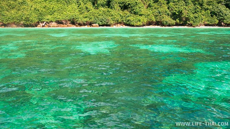 Изумрудное море у острова Крадан, Таиланд