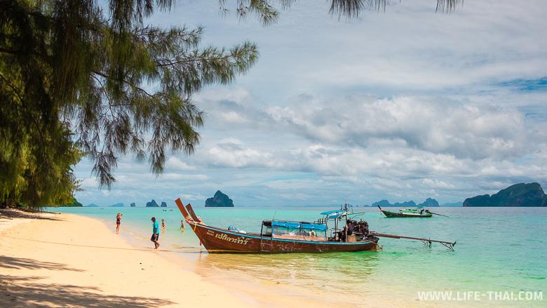 Пляжи ко Крадана - песок и прозрачная вода