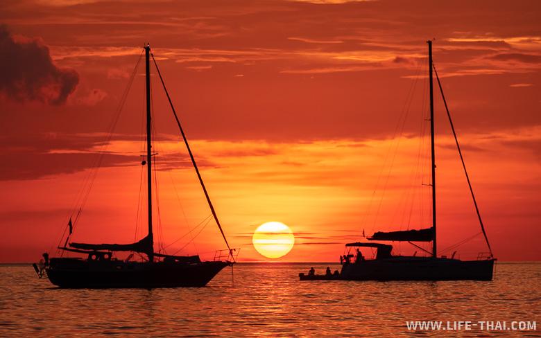 Закат на лучшем пляже ко Мука - Чарли бич (кад Фаранг бич)