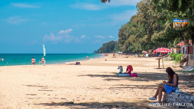 Отдых на пляже Лонг бич, ко Ланта