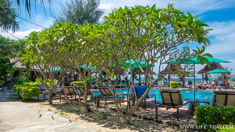 Территория отеля Blue Andaman Resort на острове Ланта
