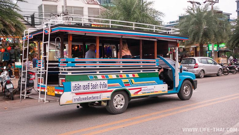 Транспорт в Ао Нанге. Автобусы и сонг тео