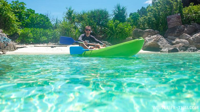 Каякинг на острове Липе