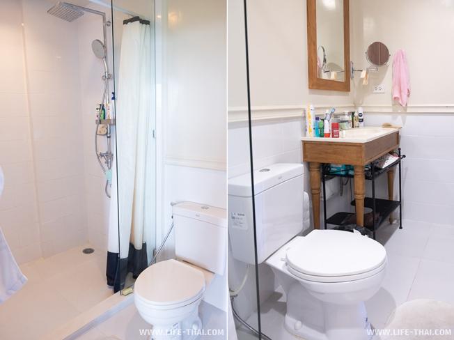 Ванная комната - душ, унитаз, раковина