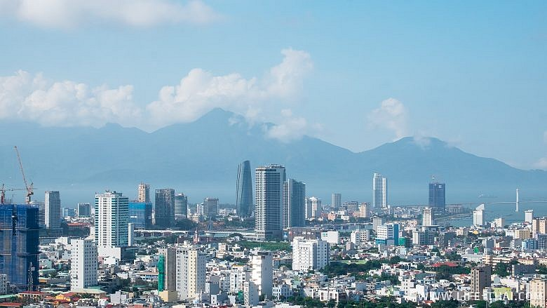 Высотки в Дананге, панорамный вид