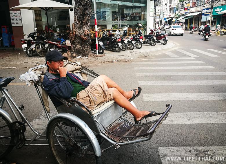 Рикша в Нячанге