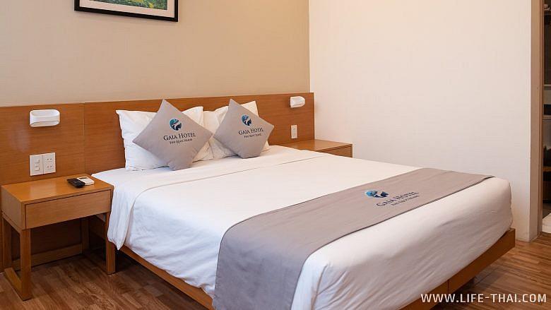 Как выглядит delux номер в отеле Gaia hotel Phu cuoc