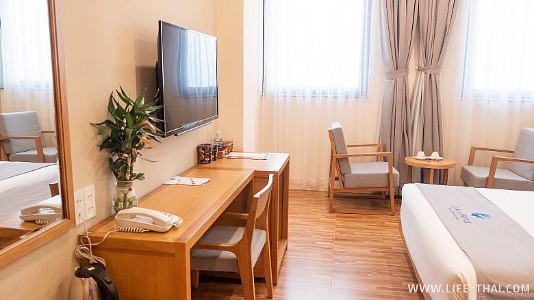 Номер delux в отеле Gaia hotel на острвое Фукуок