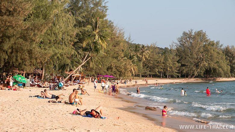 Пляж Онг Ланг для отдыха с детьми на Фукуоке