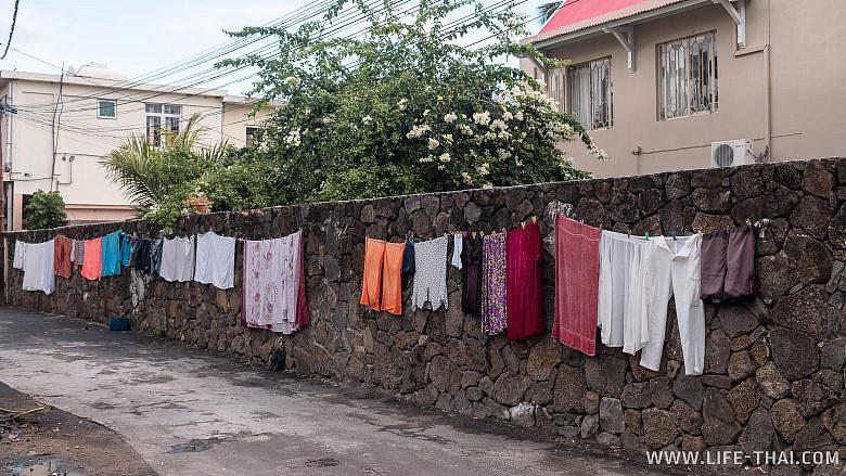 Одна из улиц на Маврикии