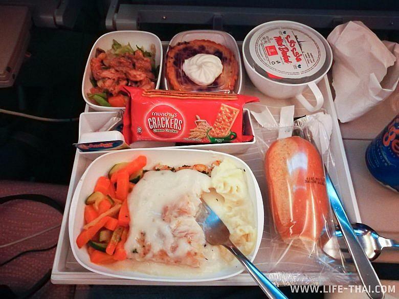 Питание на борту Emirates рейс Маврикий-Дубай