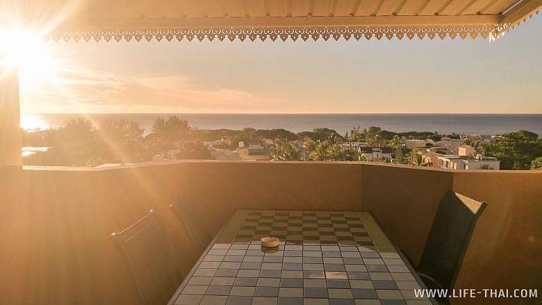 Терраса в апартаментах на Маврикии