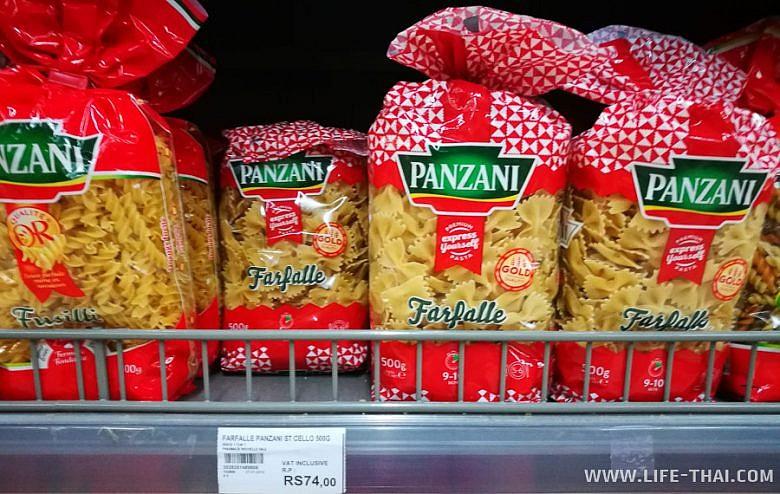 Стоимость продуктов в магазинах Маврикия