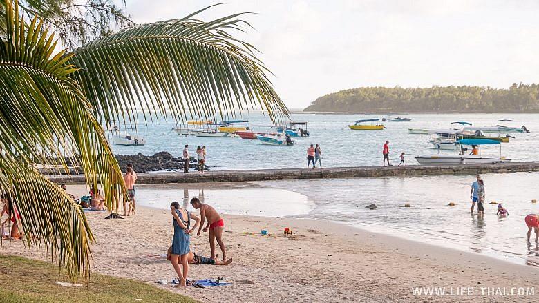 Пляж Blue bay на Маврикии