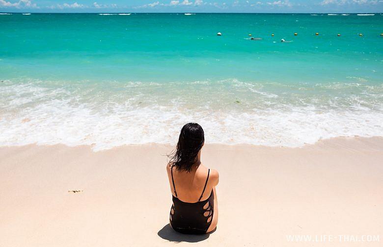Я на пляже Флик-н-Флак на Маврикии