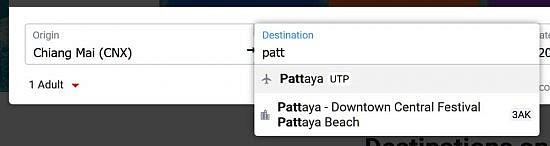 Как заказать трансфер AirAsia из Утапао в Паттайю